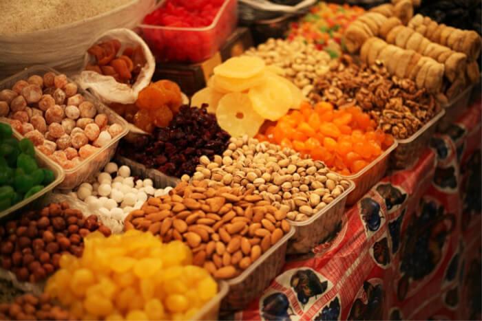 Food market in Quatre Bornes