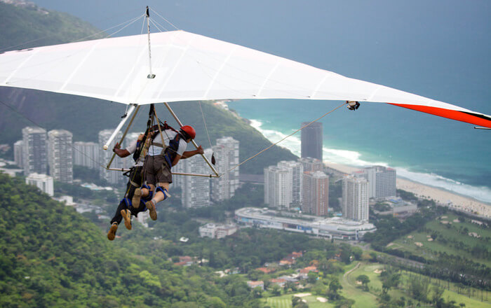 Hang Gliding in the sky