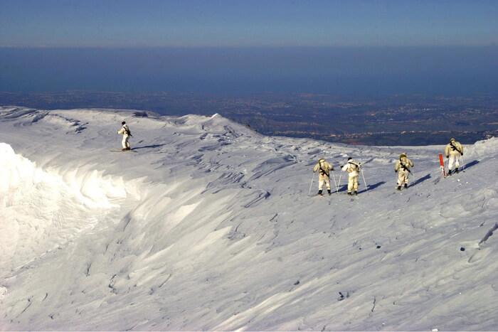 skiing at Mountain