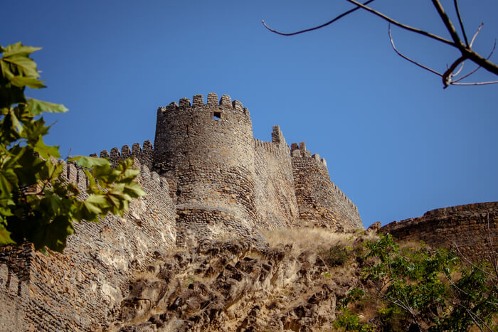 Fortress located on a hilltop