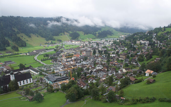 Engelberg city view from top
