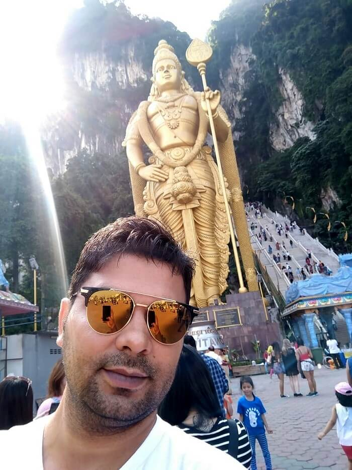 Selfie at temple