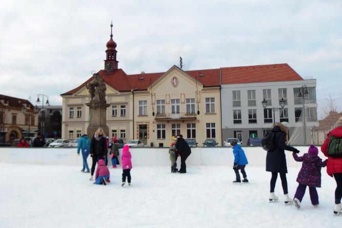 Ice skating At Ovocný trh In Wenceslas Square