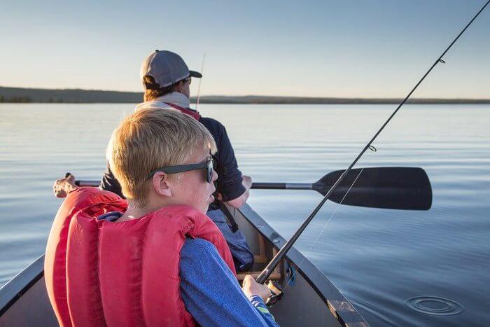fishing at boat