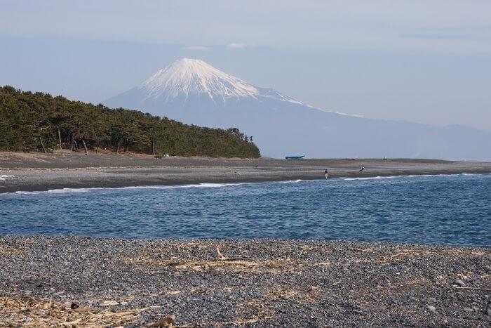 Miho Beach in Shizuoka region of Japan