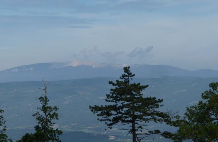 Fogg and mountain