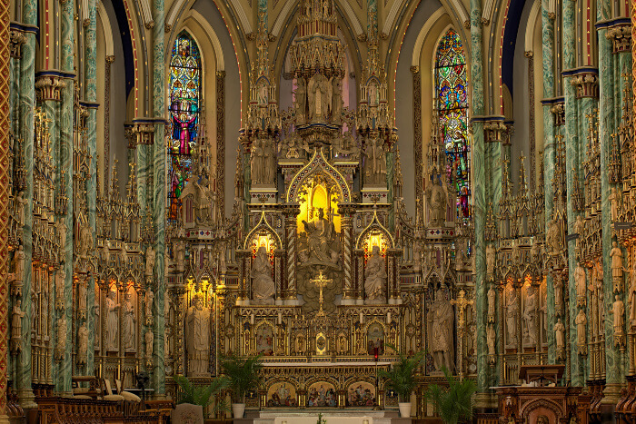 Inside the Notre-Dame Cathedral Basilica, Ottawa