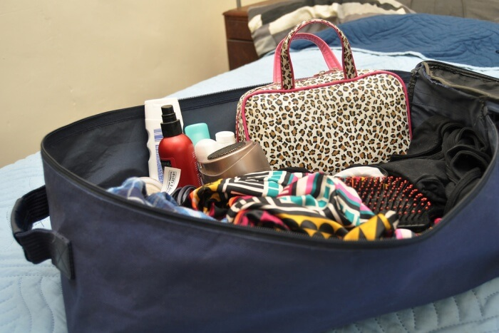 Pack so that required items can be removed easily at security
