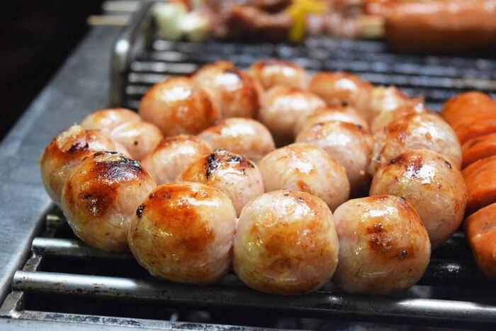Pork Sausage Thai Food Sausage Grilled Barbeque
