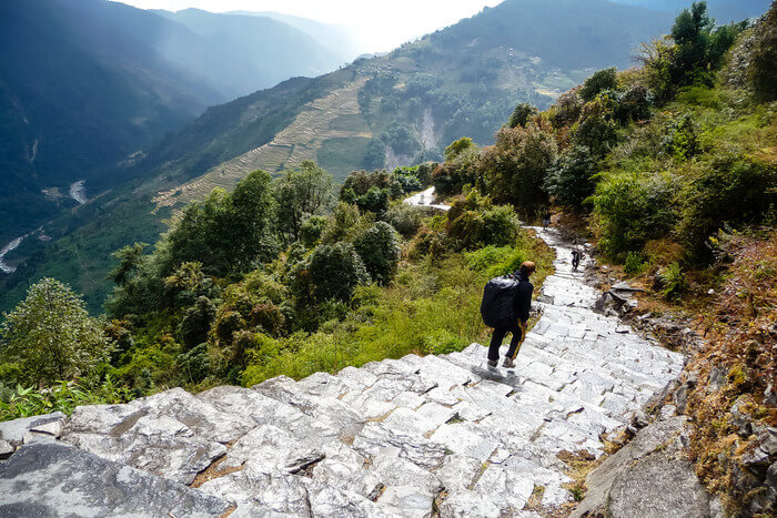 Route of Annapurna Base Camp Trek