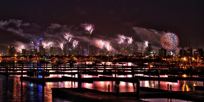 Set off fireworks