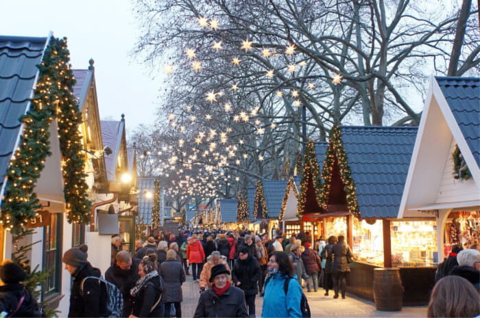 Shop at the Christmas markets