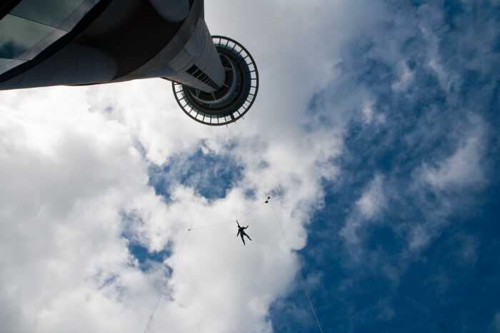 SkyJump from top of building