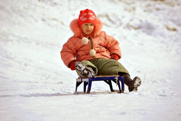 girl on sled