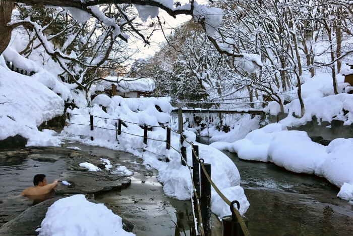 Spend the day relaxing at Takaragawa Onsen