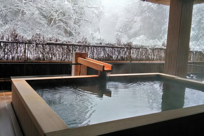 Spend the day relaxing at an Onsen