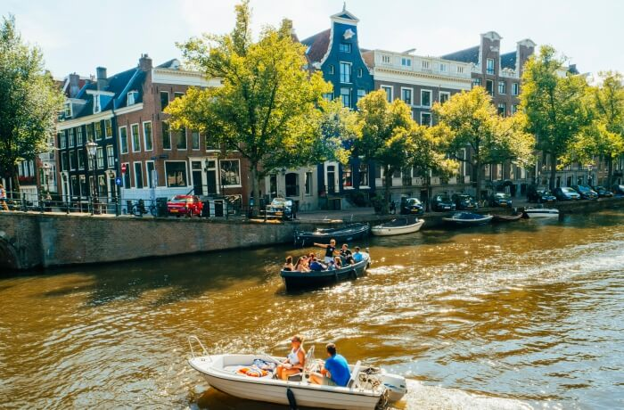 Take a romantic boat ride through the canals