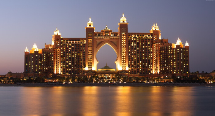 The Atlantis Palm Hotel in Dubai