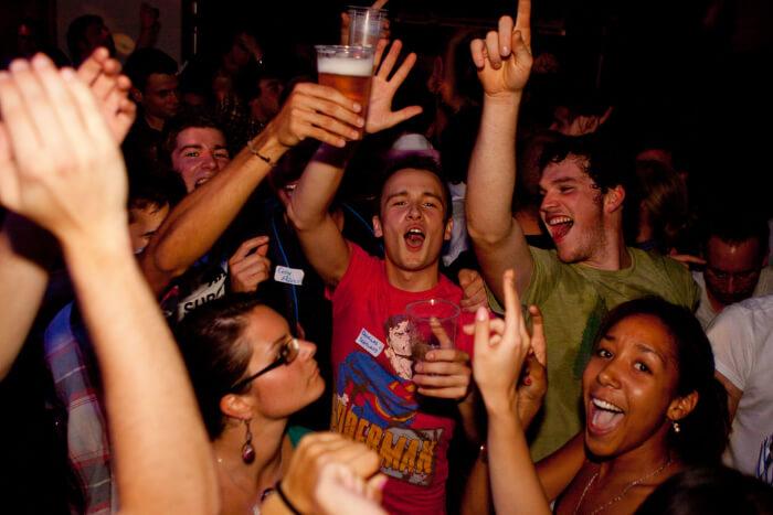 People parying and enjoying