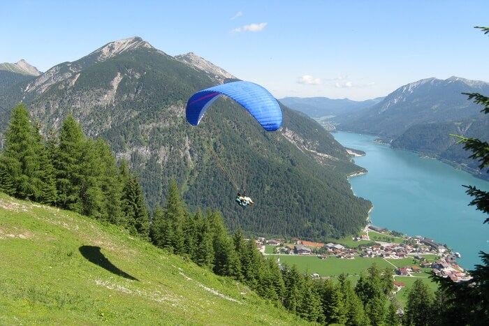 Paragliding in mountain