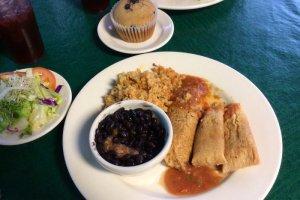 Tamales meal platter