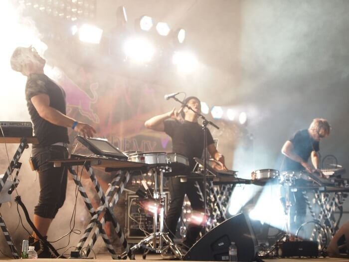 Electric zoo festival, musicians playing