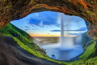 Beautiful waterfall of Iceland