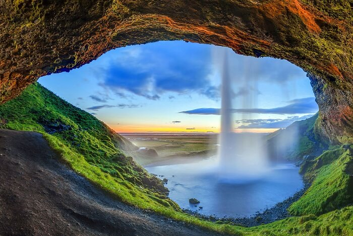 Beautiful waterfall of Iceland