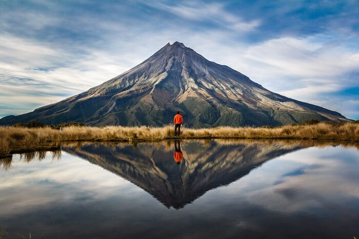 reflection in lake new zealand