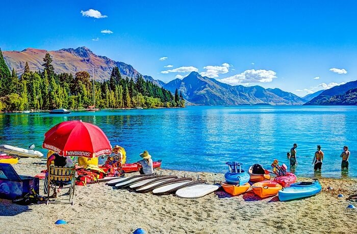 Lake New Zealand Nature Queenstown Beach Mountains