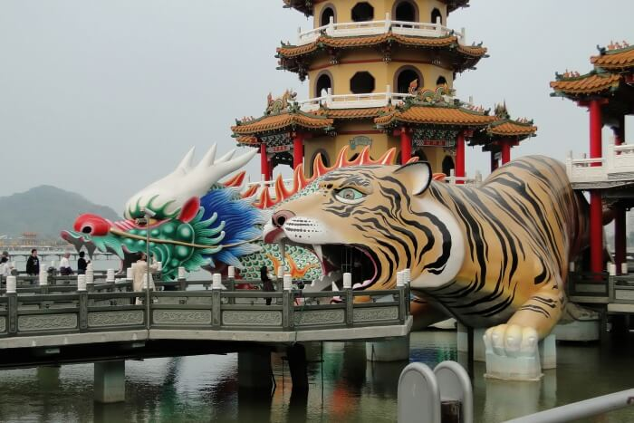 Dragon and Tigers Pagodas in Kaohsiung