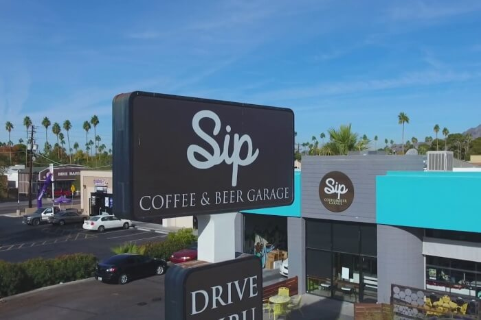 Sip Coffee and Beer Garage