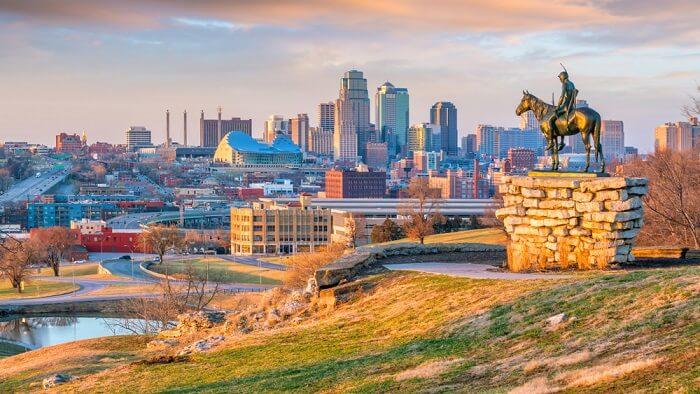 statue in Kansas