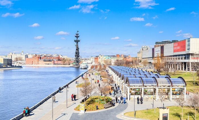 moscow city in april