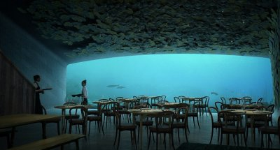 dining hall underwater