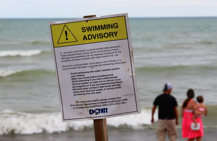 Be cautious at the beach