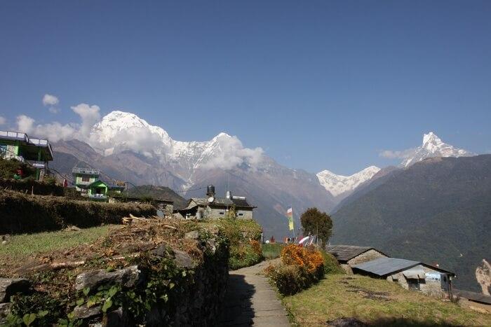 Nepal Annapurna Tracking Snow Mountain