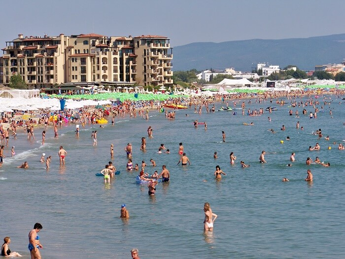 people swimming at Sunny beach