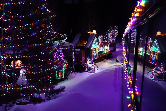Christmas Tree Lighting at night