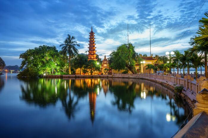 An iconic landscape of Hanoi