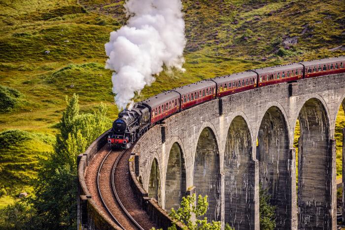 Highland Railway In Scotland