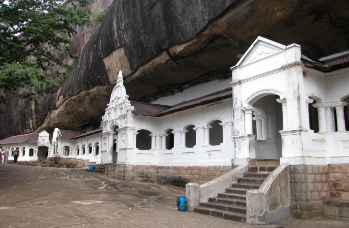 Dambulla Cave Temple view