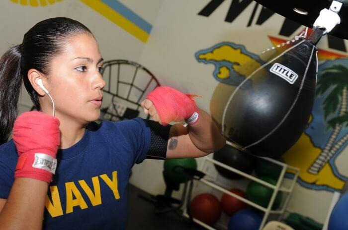 Speed Female Fitness Boxer Bag Punching Training
