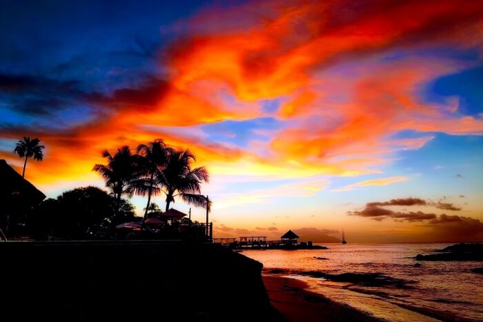 Enjoy a lovely sunset on a private beach