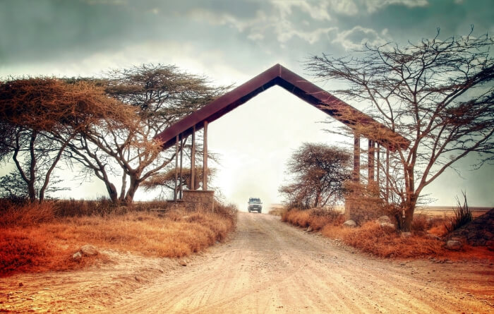 Entrance gate of a national park