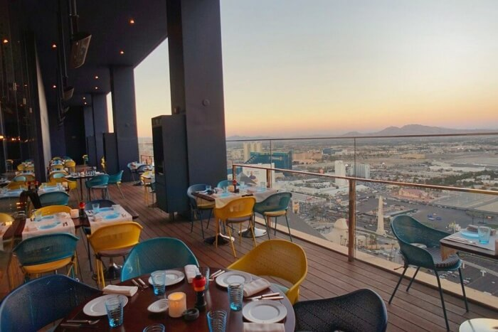Food with a view at Rivea
