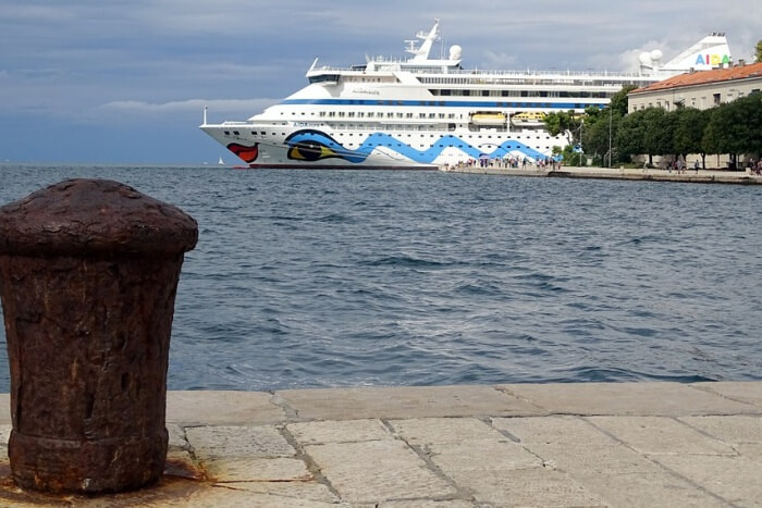 Port Cruise Ship Aida Dalmatia Zadar Croatia