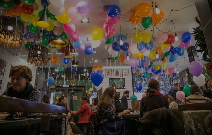 Ballons and beautiful decorations