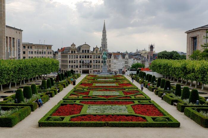 Jardin du Mont des Arts and Place Royale