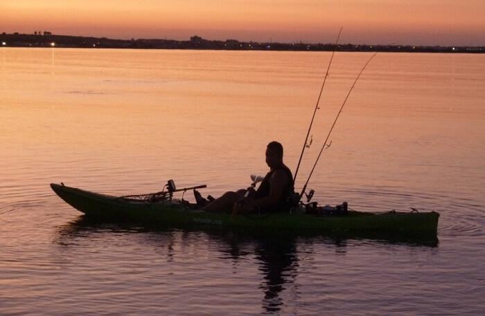 fishing on boat